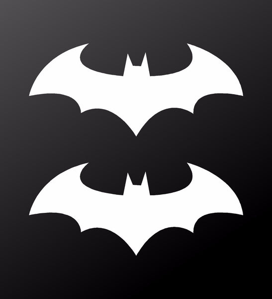 Batman Symbol Vinyl Decals Car Window Bike Laptop Stickers Set Of 2