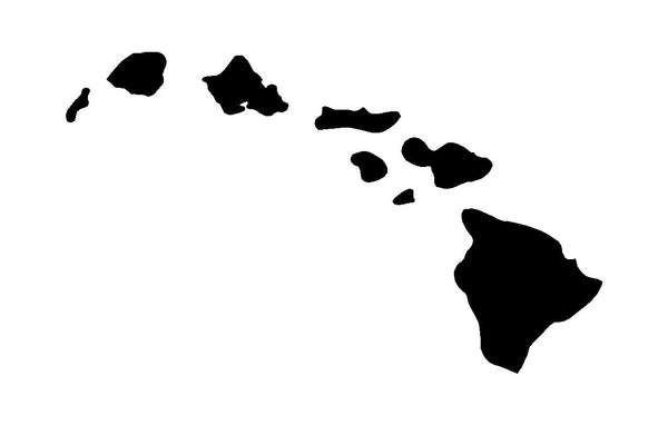 Hawaii Silhouette Vinyl Decal for laptop windows wall car boat