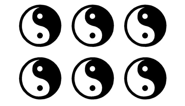 small Yin Yang Symbol Vinyl Decals Phone set of 6 Yin Yang sign Stickers sheet