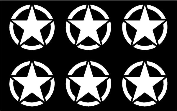 Small Army Jeep Decal USMC Military Star Vinyl Decal phone laptop  USMC Sticker