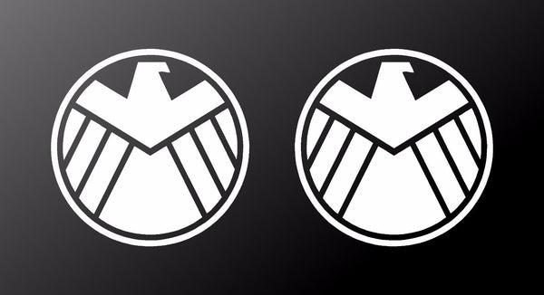 Agents Of Shield Marvel Vinyl Decals Car Window Laptop Stickers Set