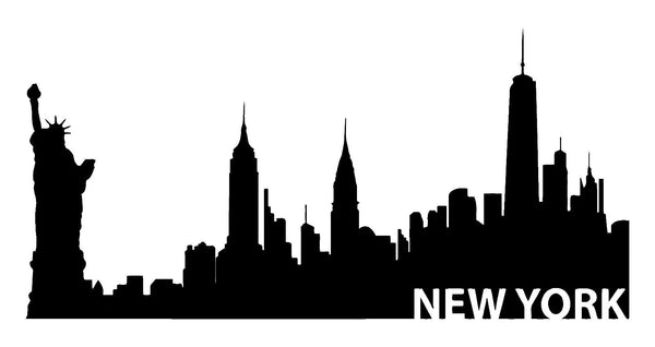 New York Skyline Vinyl Decal Car Window Laptop NY City Sticker