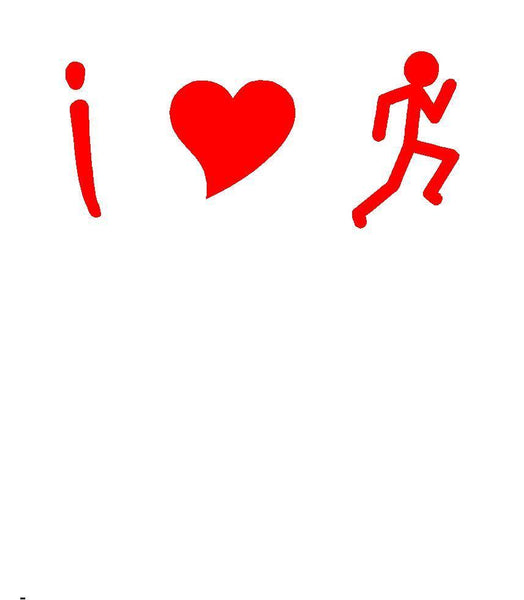 Running decal Car Window Laptop Vinyl Decal Sticker