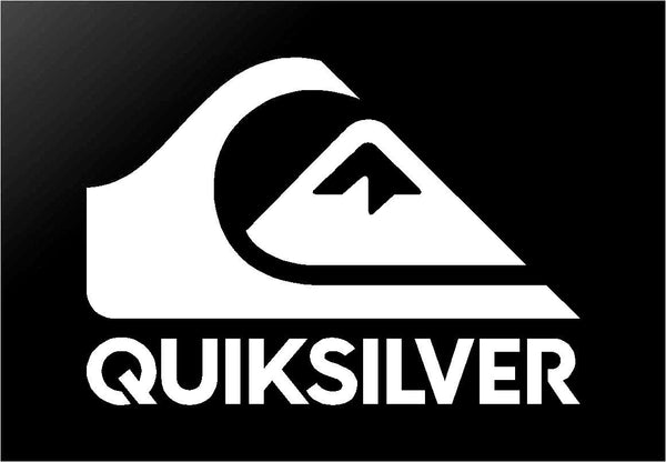 Quiksilver Surf Logo Vinyl Decal Quicksilver Car Window Laptop Surfboard Sticker