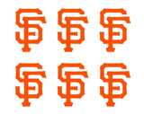Small San Francisco Giants Vinyl Decals Phone Laptop Stickers Set of 6