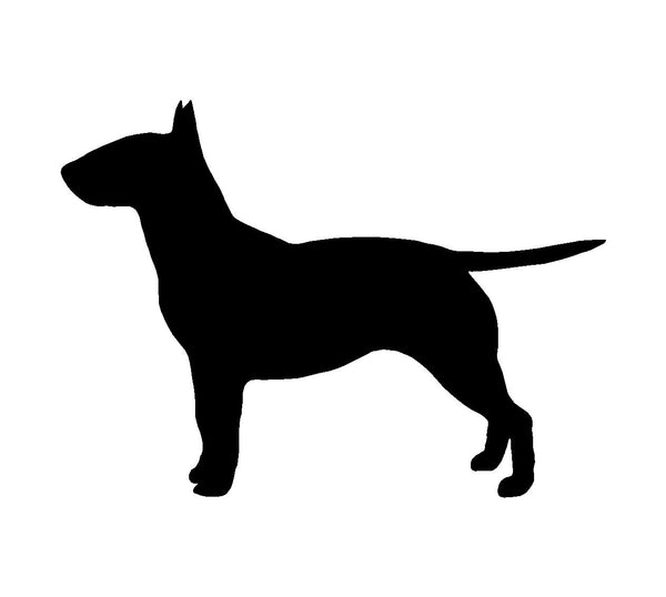 Bull Terrier Vinyl Decal Dog Silhouette Car Window Laptop Sticker