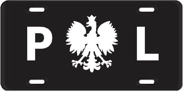 "Poland Polish Polska Eagle 6""x12"" Aluminum License Plate Sign"