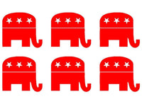 Small Republican GOP Elephant Phone laptop Vinyl Decal Sticker set of 6