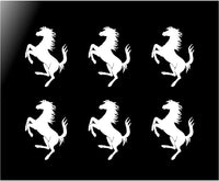 "Ferrari Prancing Horse Small 2"" Vinyl Decals Phone Dashboard Mirror Stickers"
