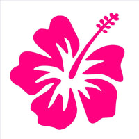 "Hibiscus Vinyl Decal Hawaiian Aloha Flower Car Window Laptop 3"" Sticker"