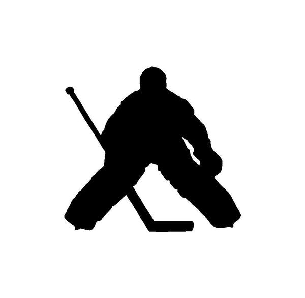 Hockey Player Goalie Silhouette Vinyl Decal Car Window Laptop Sticker