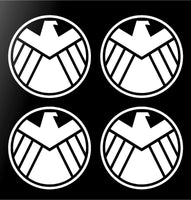 "4 Agents of Shield Marvel 2"" Vinyl Decals Phone Laptop Car Window Stickers Set"