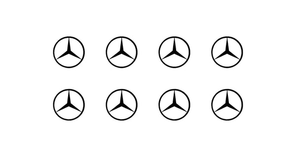 "Mercedes Logo Vinyl Decals Phone Dashboard Mirror Laptop Small 1.5"" Stickers"
