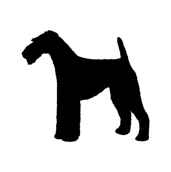 Airdale Terrier Vinyl Decal Car Window Laptop Dog Silhouette Sticker