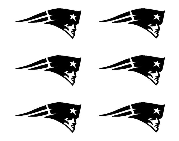 Small New England Vinyl Decals Phone Helmet Small Stickers Patriots Set of 6