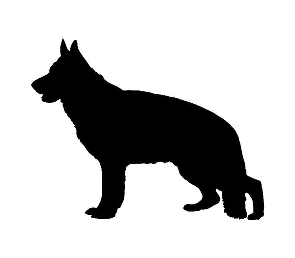 German Shepherd Vinyl Decal Car Window Laptop Dog Silhouette Sticker