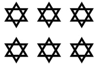 Small Star of David Shield Magen Judaism Phone Window Vinyl Decal Sticker