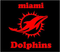 Miami Dolphins Vinyl Decals Laptop car window Dolphins team sticker