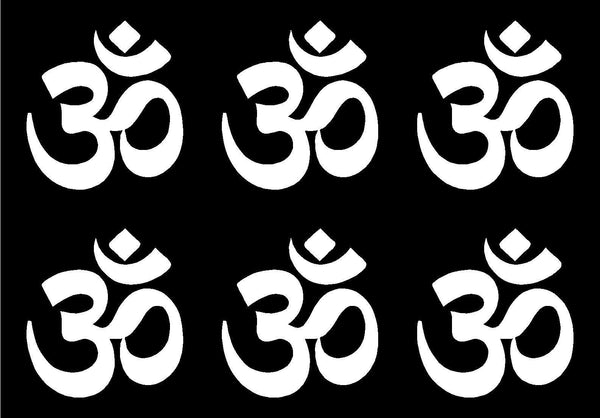 Small OHM symbol set of 6 Vinyl Decals Phone OHM Stickers Sheet