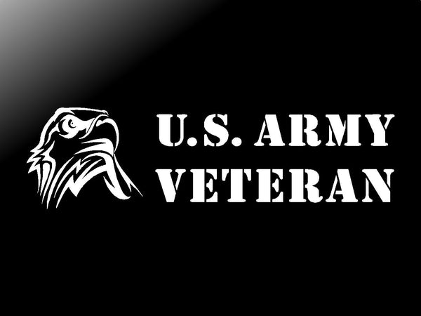 US Army Veteran Vinyl Decal Car Truck Window Eagle Sticker