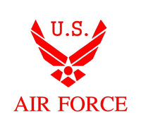 US Air Force Vinyl Decal Car Truck Window Laptop USAF Sticker