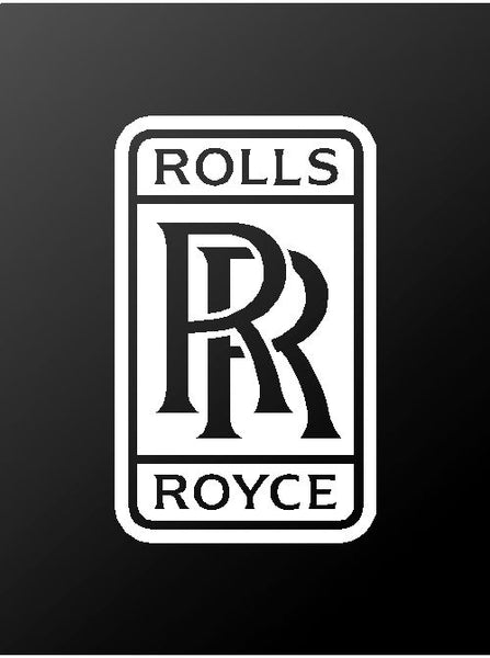 Rolls-Royce Logo Vinyl Decal Car Window Laptop Emblem Sticker