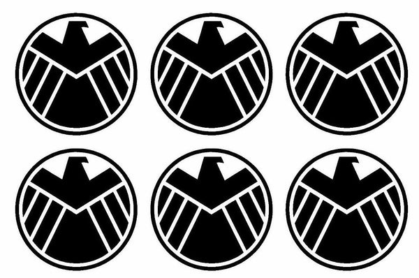 "6 SHIELD Marvel's Agents of S.H.I.E.L.D. Vinyl Decals 2.5"" Stickers"