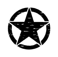 Distressed Army Jeep USMC Military Star Vinyl Decal Car Truck Sticker
