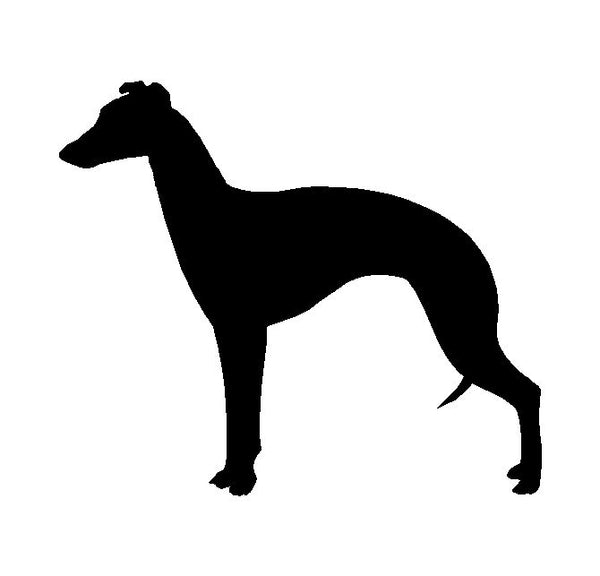 Whippet Snap Dog Vinyl Decal Car Window Laptop Dog Breed Silhouette Sticker