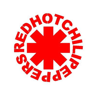 Red Hot Chili Peppers Band Vinyl Decal Car Window Guitar Laptop RHCP Sticker