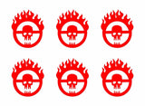 "6 Mad Max Fury Road Skull Logo Vinyl Decals Car Window Laptop Phone 2"" Stickers"