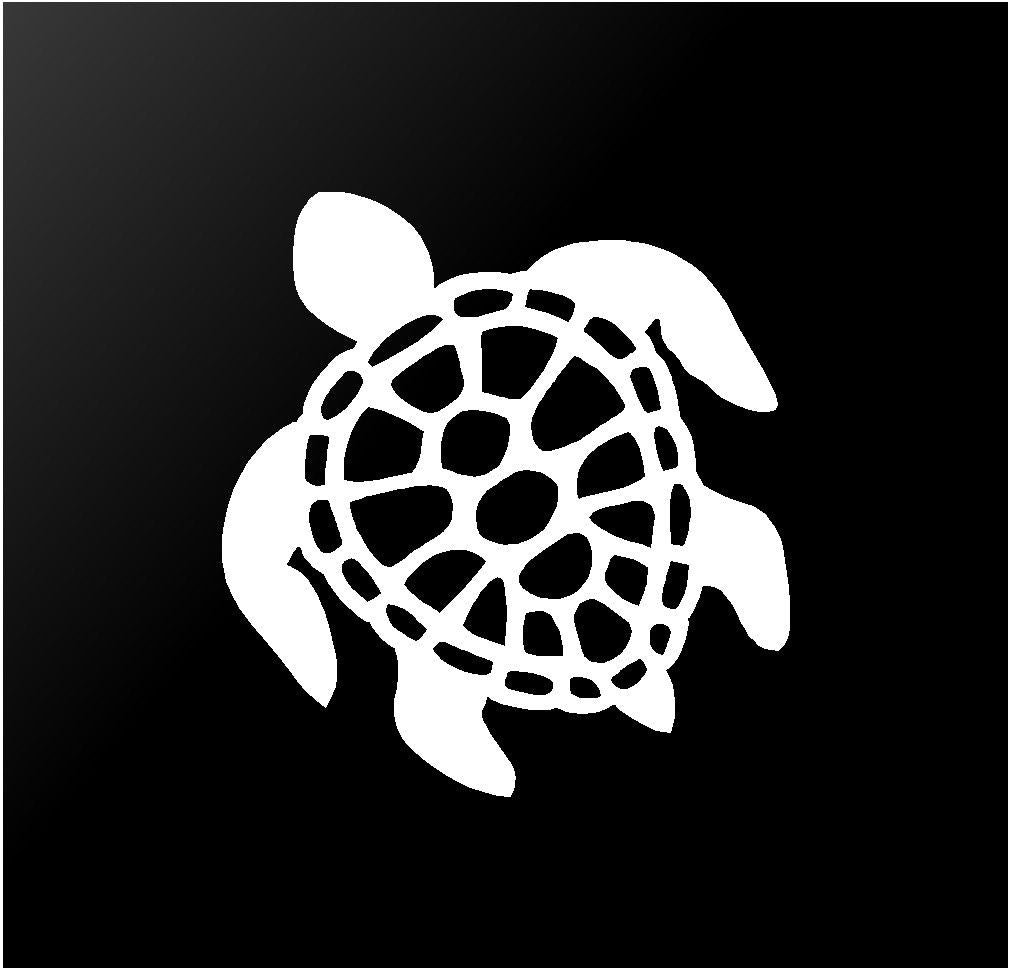 Honu Hawaiian Sea Turtle Vinyl Decal Car Window Laptop