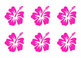 Hawaiian Hibiscus Flower Vinyl Decals Phone Laptop Small Stickers Set of 6