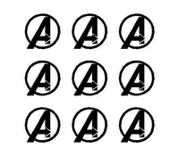 "Avengers Symbol Vinyl Decals Phone Laptop Sheet of Small 1.5"" Stickers"