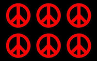 small Peace Symbol Vinyl Decals Phone set of 6 Peace sign Stickers Sheet