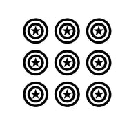 "Captain America Symbol sheet Vinyl Decals Phone set of Small 1.5"" Stickers"