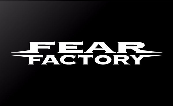 Fear Factory Metal Band Logo Vinyl Decal Car Window Laptop Guitar Sticker