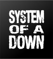 System of a Down SOAD Band Logo Vinyl Decal Car Window Laptop Guitar Sticker