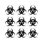 Copy of Biohazard Logo Vinyl Decals Stickers Set of 9