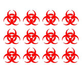 Biohazard Logo Vinyl Decals Stickers Set of 12