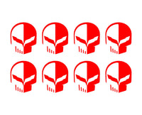 "Corvette C7 Racing Jake Skull Vinyl Decals Small 1.5"" Stickers Set of 8"
