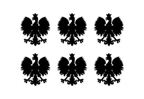 Polish Eagle set of 6 Vinyl Decals Phone Poland Polska Eagle Stickers Sheet
