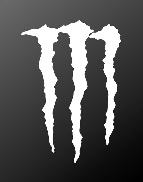 Monster Energy Vinyl Decal Claws Logo Sticker