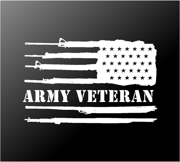 Army Veteran Reversed US Flag Vinyl Decal Car Truck Window Sticker