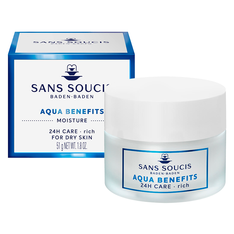 AQUA BENEFITS MOISTURE 24hr Care Rich Moisturiser For Dry Skin