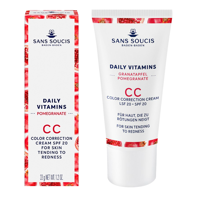 DAILY VITAMINS CC Colour Correction Cream SPF20 For Skin Tending To Redness