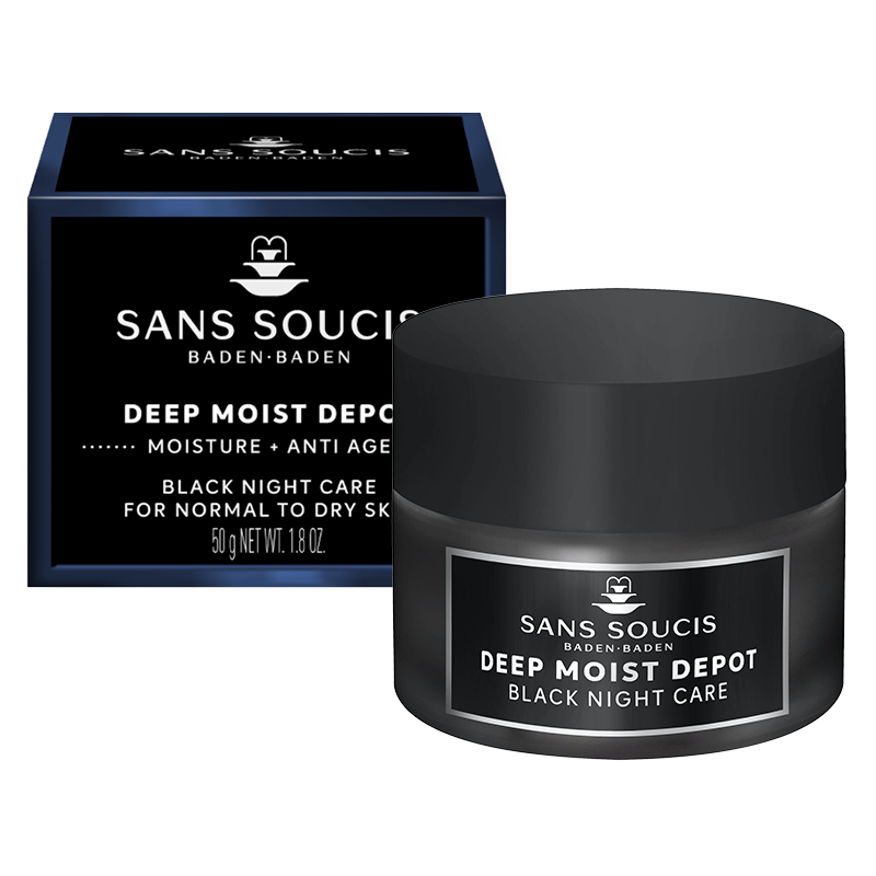 DEEP MOIST DEPOT Anti Age Black Night Care For Dry Skin