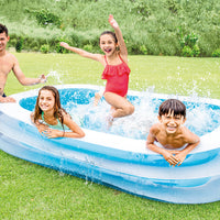 Pool - Swim Center Family Pool 103in X 69in X 22in (Colors Vary)