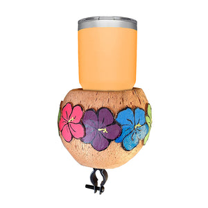 Coconut Cup Holder - Hibiscus