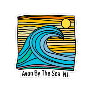 Sticker - Avon by the Sea - Wave w/ Lines